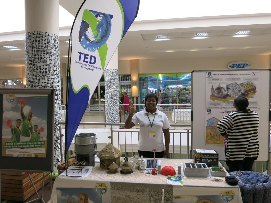 Palesa Moiketsi and Ntakoana Mothae  at the TED exhibition stand